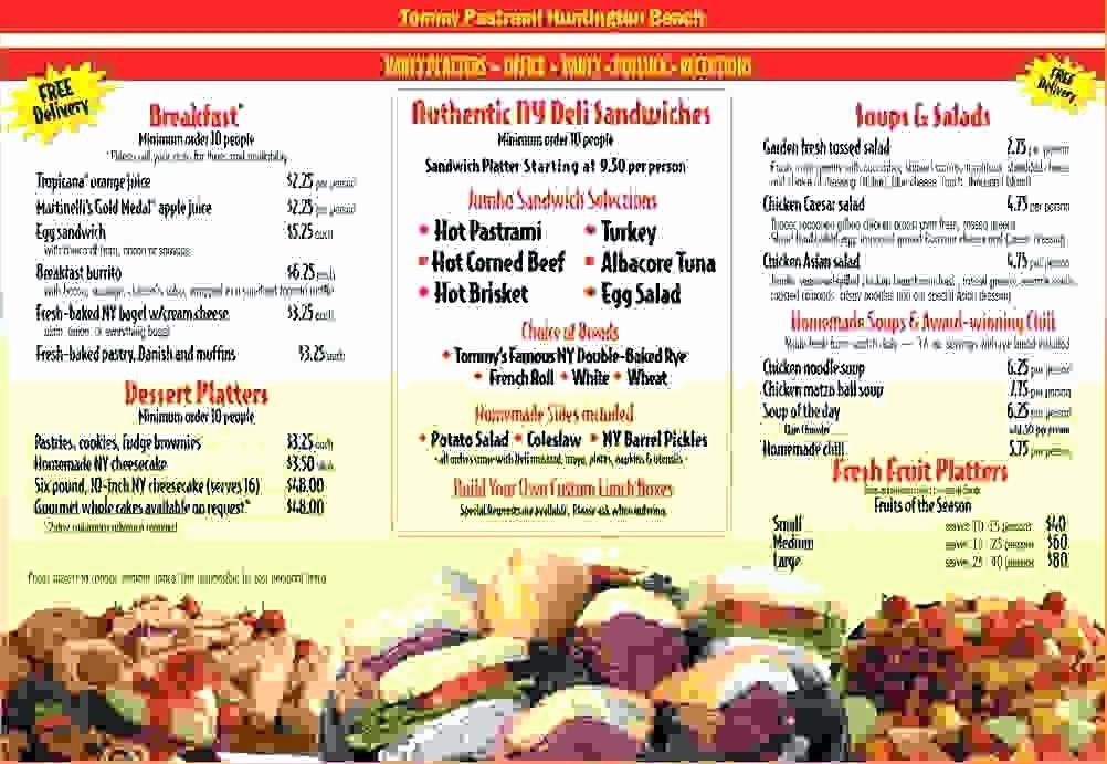 Free Catering Menu Templates Download Lovely Catering Menu Template – Traguspiercingfo