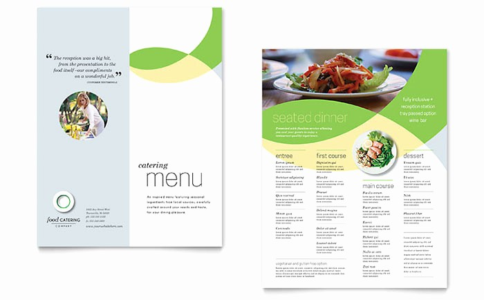 Free Catering Menu Templates Download Lovely Food Catering Menu Template Design
