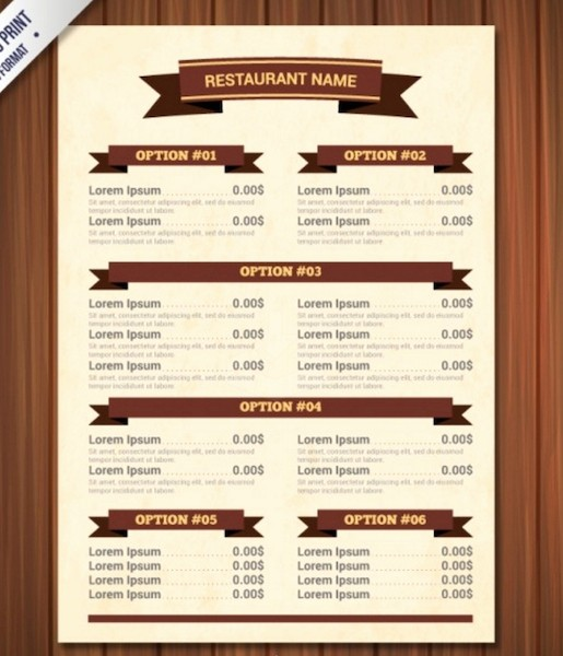 Free Catering Menu Templates Download Lovely Restaurant Menu Template