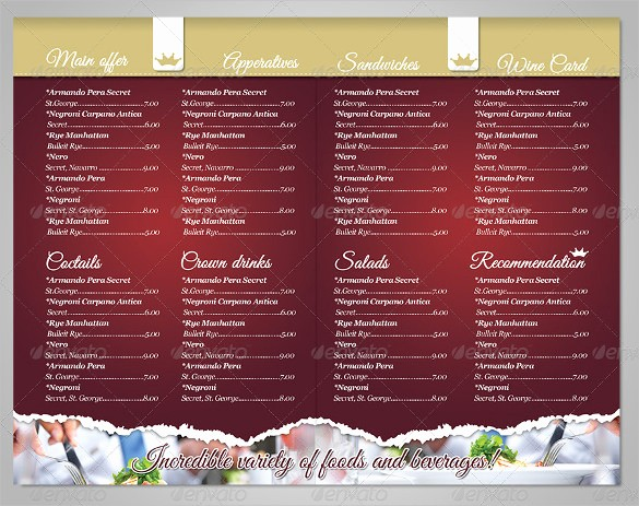 Free Catering Menu Templates Download Luxury Restaurant Menu Template 53 Free Psd Ai Vector Eps