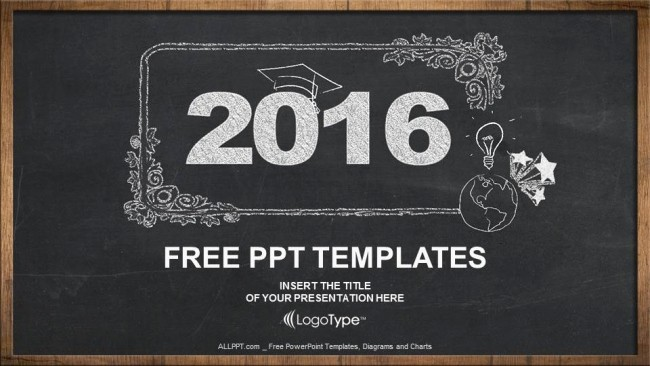 Free Chalkboard Background for Powerpoint Awesome 2016 Concept On Blackboard Powerpoint Templates