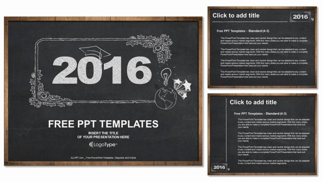 Free Chalkboard Background for Powerpoint Unique 2016 Concept On Blackboard Powerpoint Templates