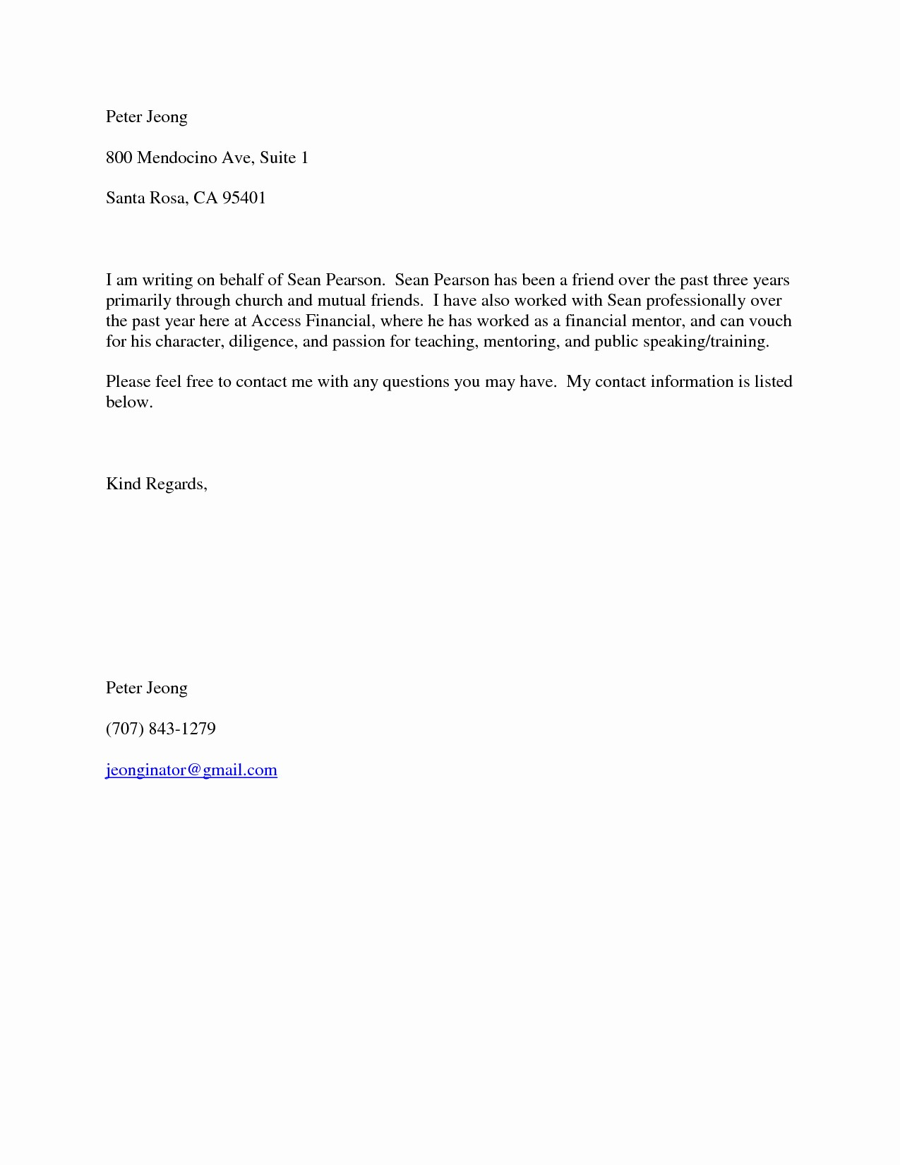 Free Character Reference Letter Template Beautiful Reference Letter for Friend Character Template Samples