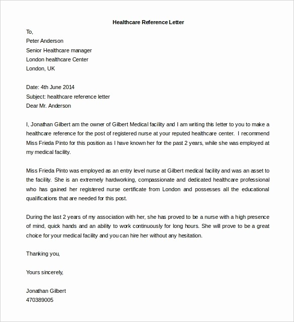 Free Character Reference Letter Template Elegant Reference Letter Template Free