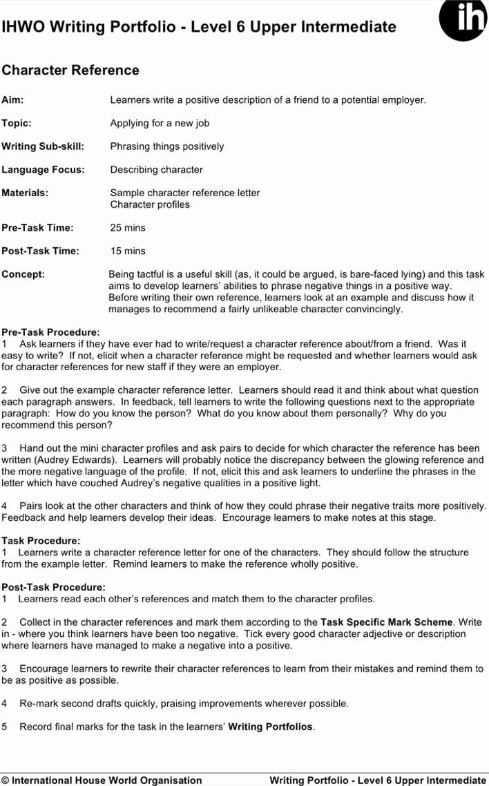 Free Character Reference Letter Template Inspirational Download Personal Letter Of Reference for Free
