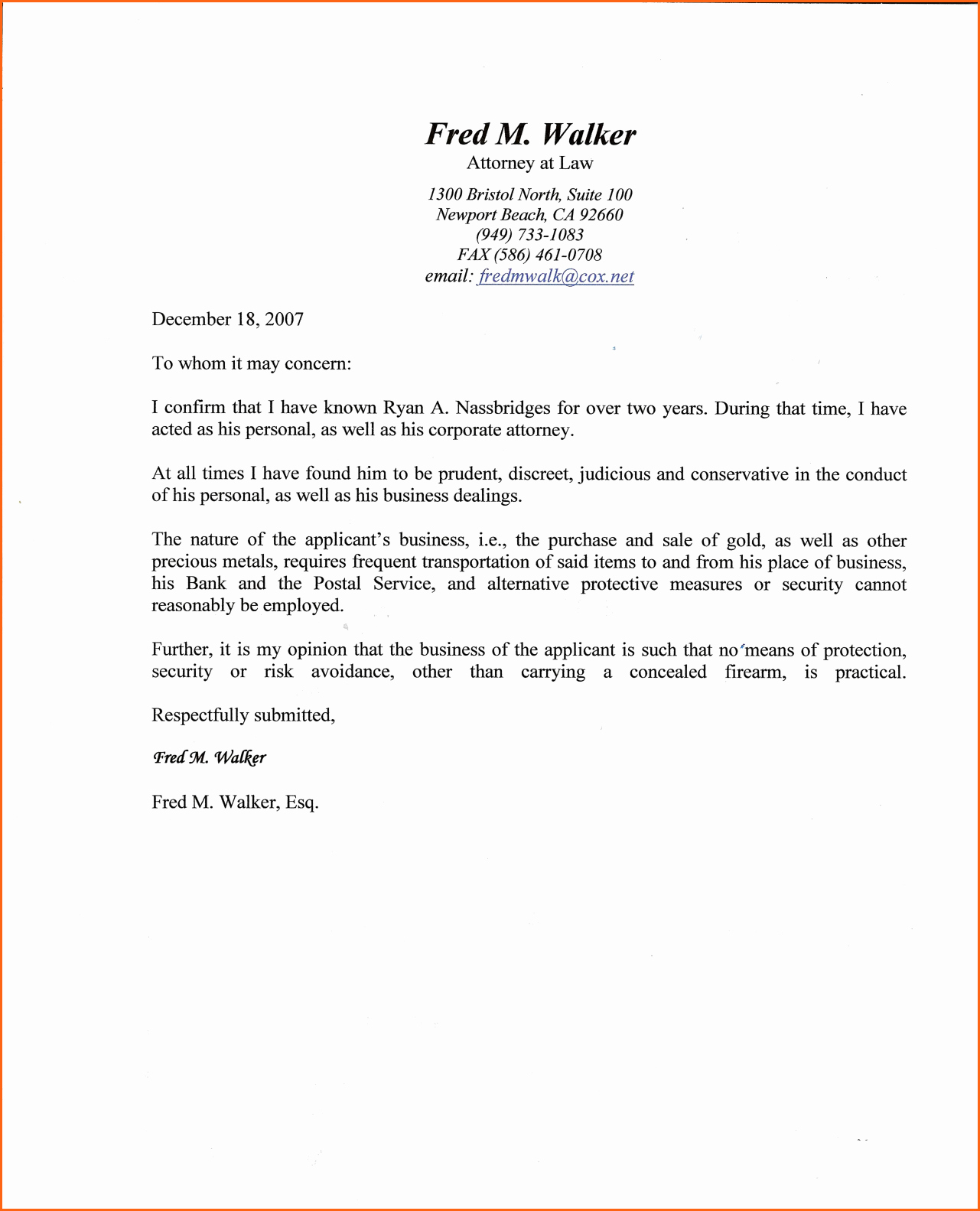 Free Character Reference Letter Template Inspirational Fresh Sample Character Reference Letter