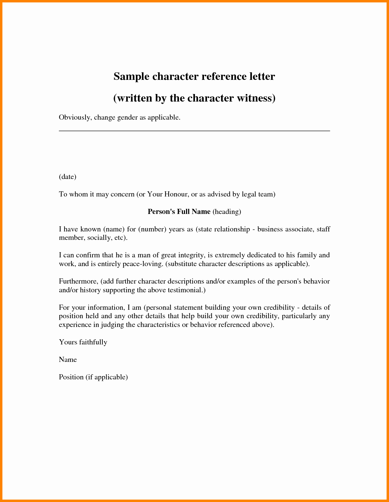 Free Character Reference Letter Template New Printable Santa List Templates Printable Sample Letter to