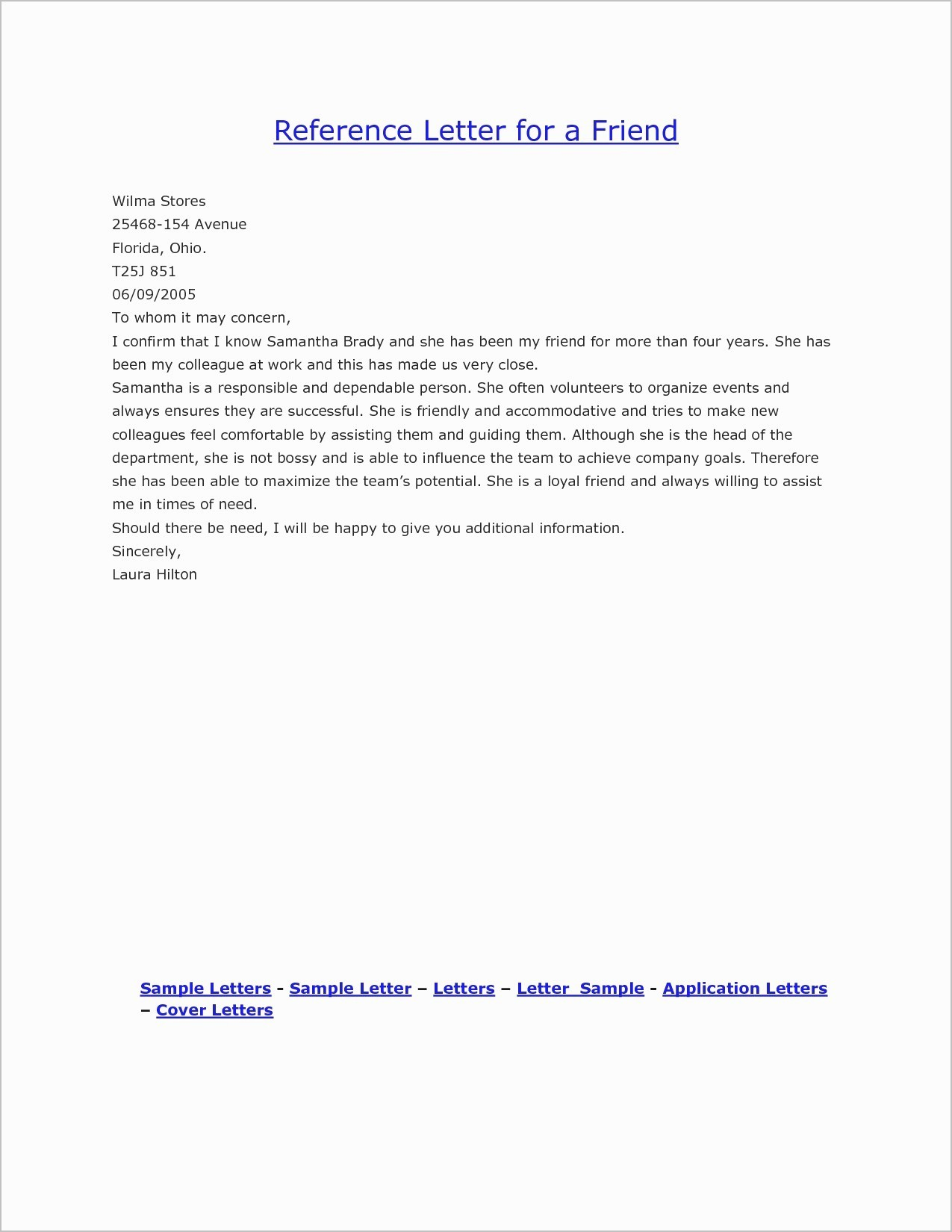 Free Character Reference Letter Template Unique Good Character Reference Letter Template Examples