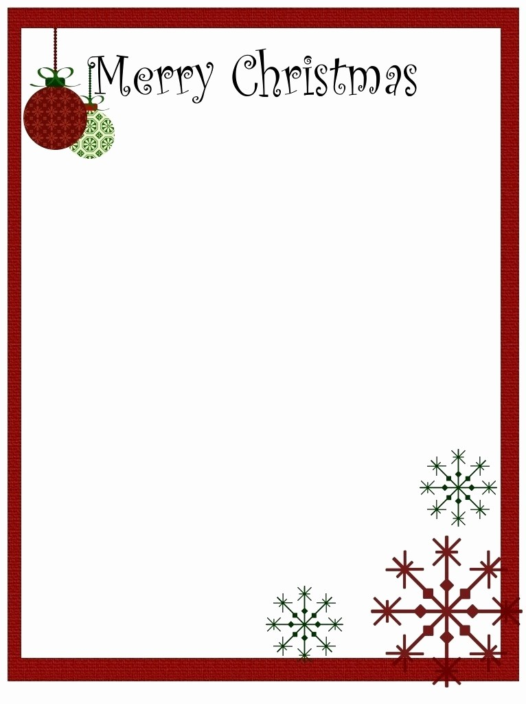 Free Christmas Borders for Letters Awesome Border for Christmas Letter Free