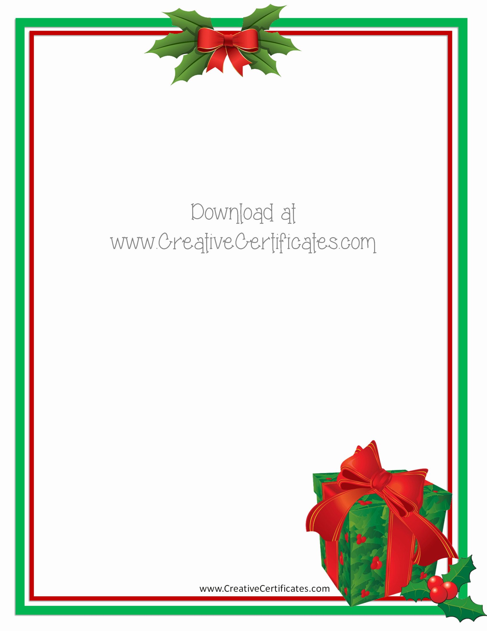 Free Christmas Borders for Letters Awesome Christmas Letter Borders