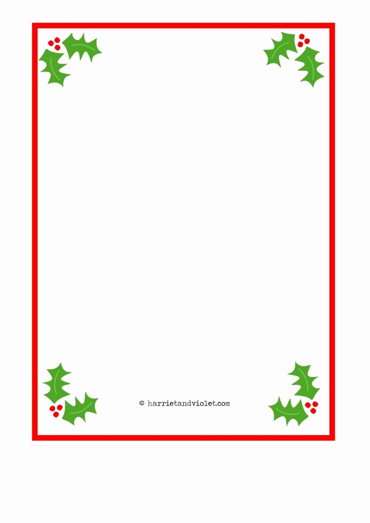Free Christmas Borders for Letters Best Of Christmas Border Paper A4 Plain Holly Santa Hat Fairy