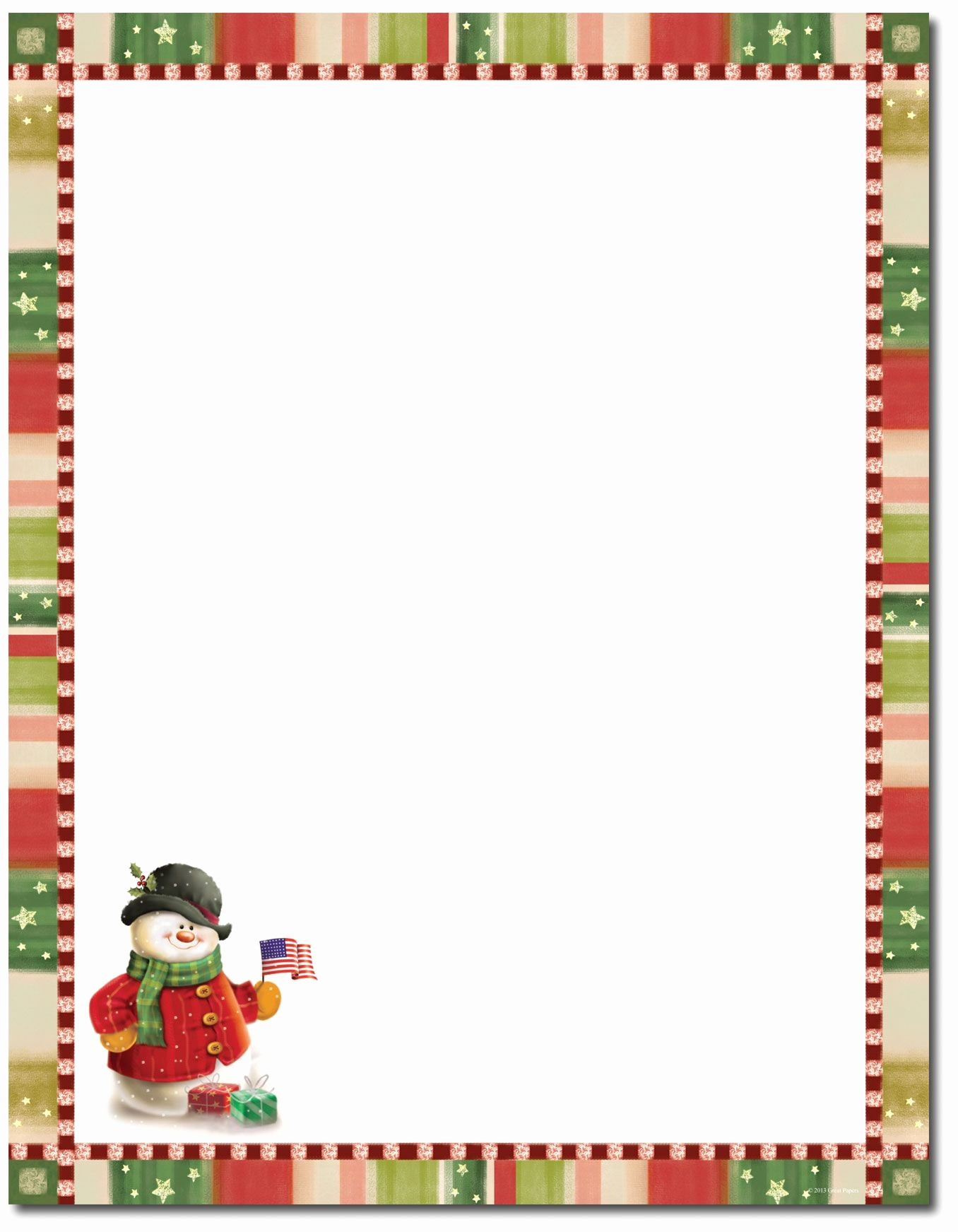 Free Christmas Borders for Letters Elegant Christmas Stationery