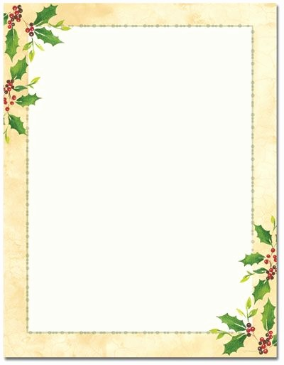Free Christmas Borders for Letters Elegant Printable Christmas Letterhead Stationery Blank Designer