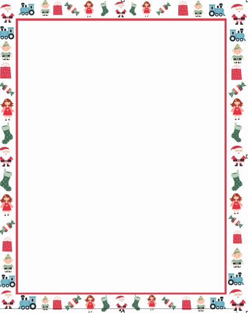 Free Christmas Borders for Letters Fresh Christmas Letter Borders Free Printable