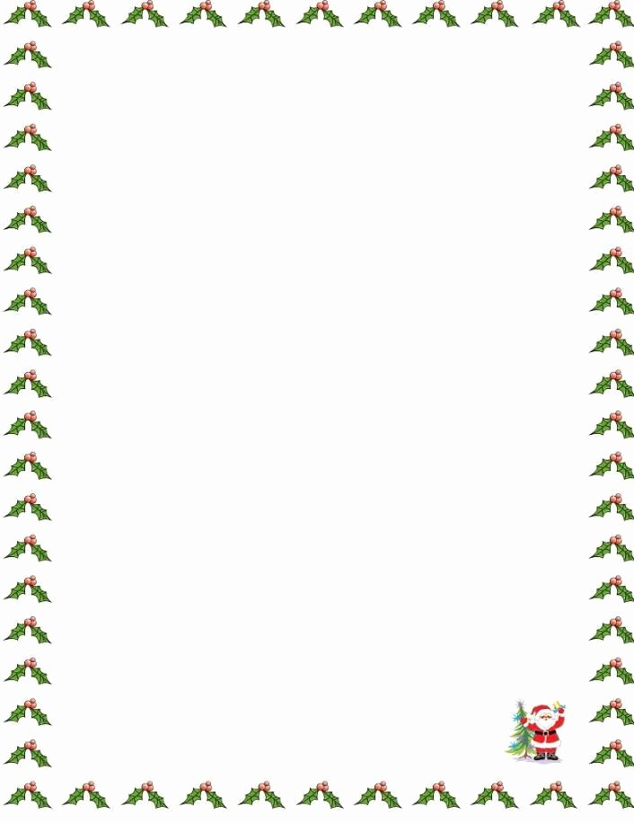 Free Christmas Borders for Letters Fresh Letter Border Templates 1000 X 1320 151 Kb Jpeg Santa