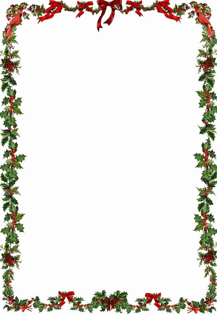 Free Christmas Borders for Letters Fresh Printable Holiday Newsletter Border