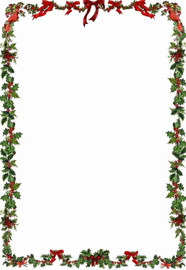 Free Christmas Borders for Letters Fresh Printable Holiday Newsletter Border