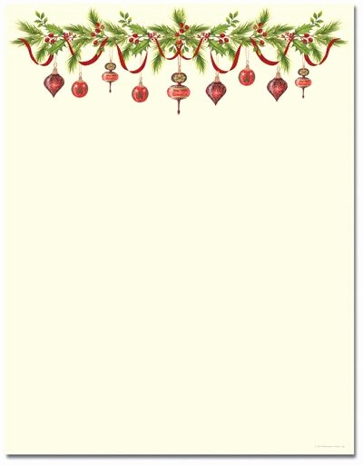 Free Christmas Borders for Letters Luxury Grandma S ornaments Letterhead