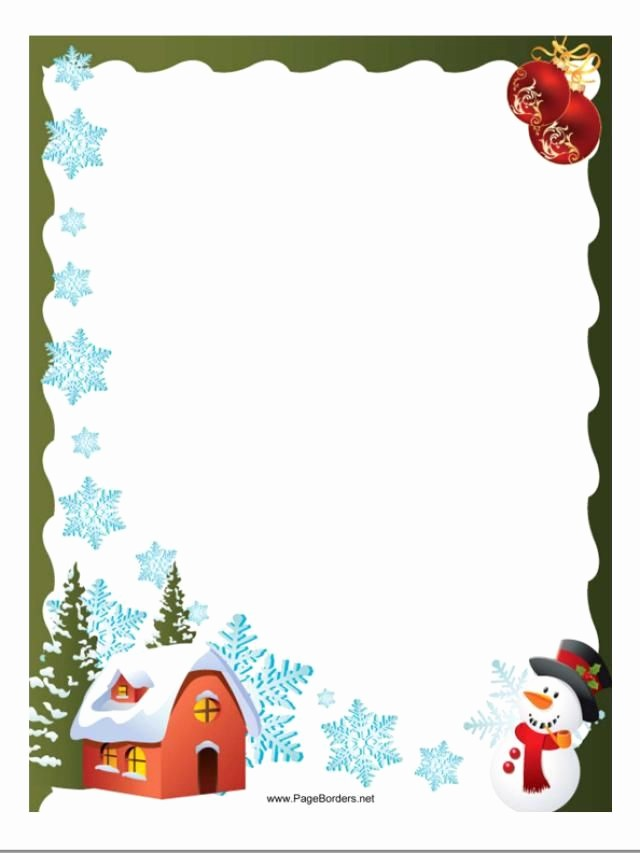 Free Christmas Borders for Letters New Christmas Letter Boarders Clipart Clipart Collection