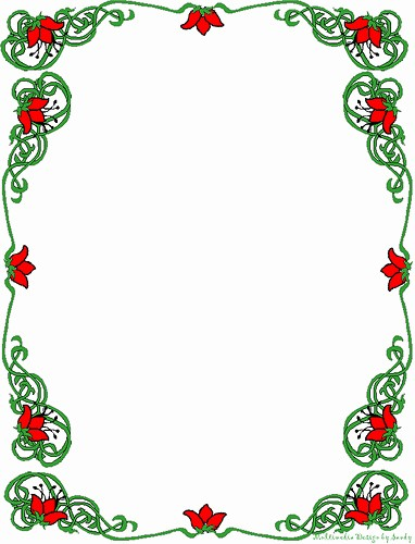 christmas borders for letters cliparts