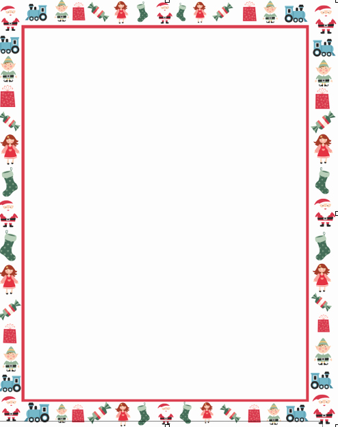 Free Christmas Borders for Letters Unique Christmas Letter Borders