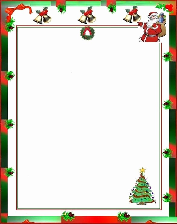 Free Christmas Borders for Letters Unique Christmas Letter Borders Sample Letter Template