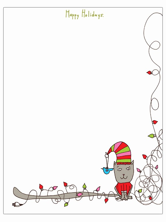 Free Christmas Borders for Letters Unique Christmas Letter Templates to for Free Engaged