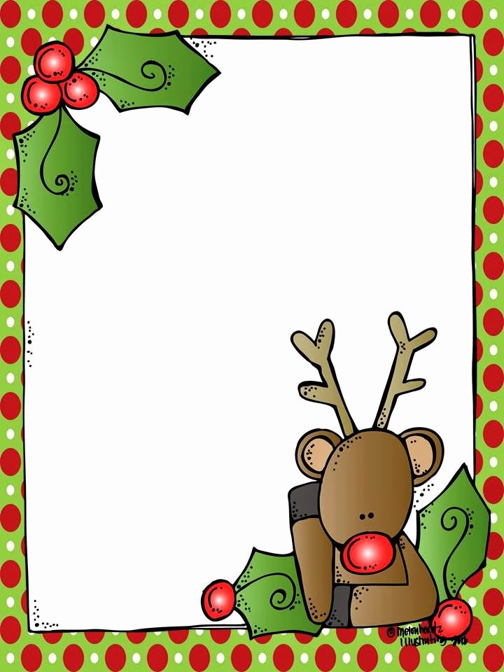 Free Christmas Borders for Letters Unique Melonheadz A Blank Rudolph Letter form for Santa and It