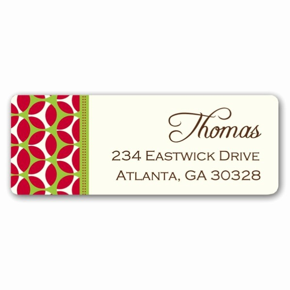 Free Christmas Return Address Labels Best Of Christmas Geometric Retro Return Address Labels