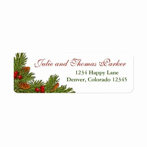 Free Christmas Return Address Labels Elegant Avery Avery Christmas Wreath Address Label 30 Per Sheet