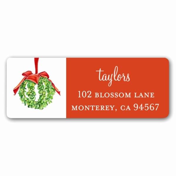 Free Christmas Return Address Labels Fresh Christmas Mistletoe Ball Return Address Labels