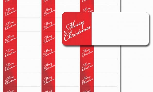 Free Christmas Return Address Labels Inspirational Avery Holiday Label Templates – Hola Klonec – Label Maker