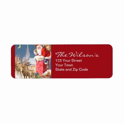 Free Christmas Return Address Labels Lovely Vintage Santa Christmas Return Address Labels