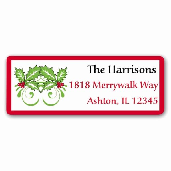 Free Christmas Return Address Labels Luxury Hollyberry Stripe Christmas Return Address Labels