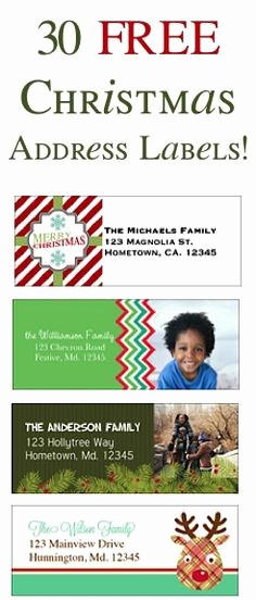 Free Christmas Return Address Labels New 1000 Ideas About Address Labels On Pinterest
