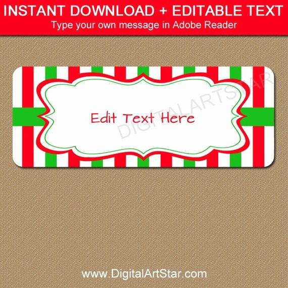 christmas address labels printable