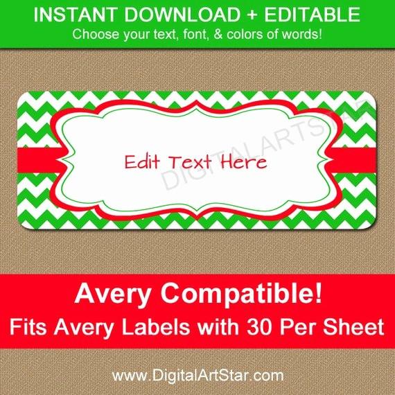Free Christmas Return Address Labels Unique Editable Christmas Address Labels Printable by Digitalartstar