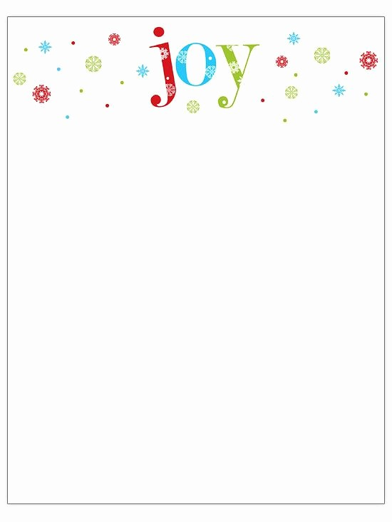 Free Christmas Stationery to Print Awesome Free Christmas Letter Templates