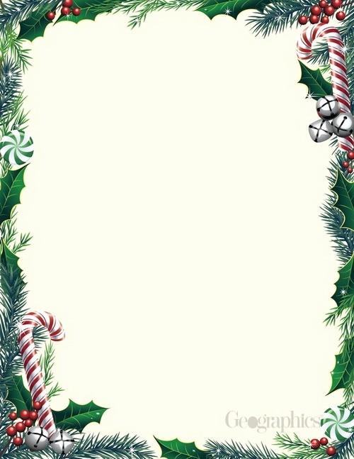 Free Christmas Stationery to Print Beautiful Christmas Letterhead Paper