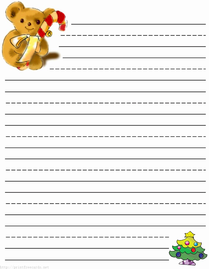 Free Christmas Stationery to Print Elegant 6 Best Of Christmas Writing Paper Template
