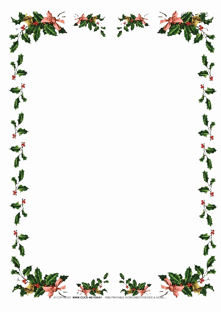 Free Christmas Stationery to Print Elegant Free Printable Christmas Stationery with Borders Of Holies 5