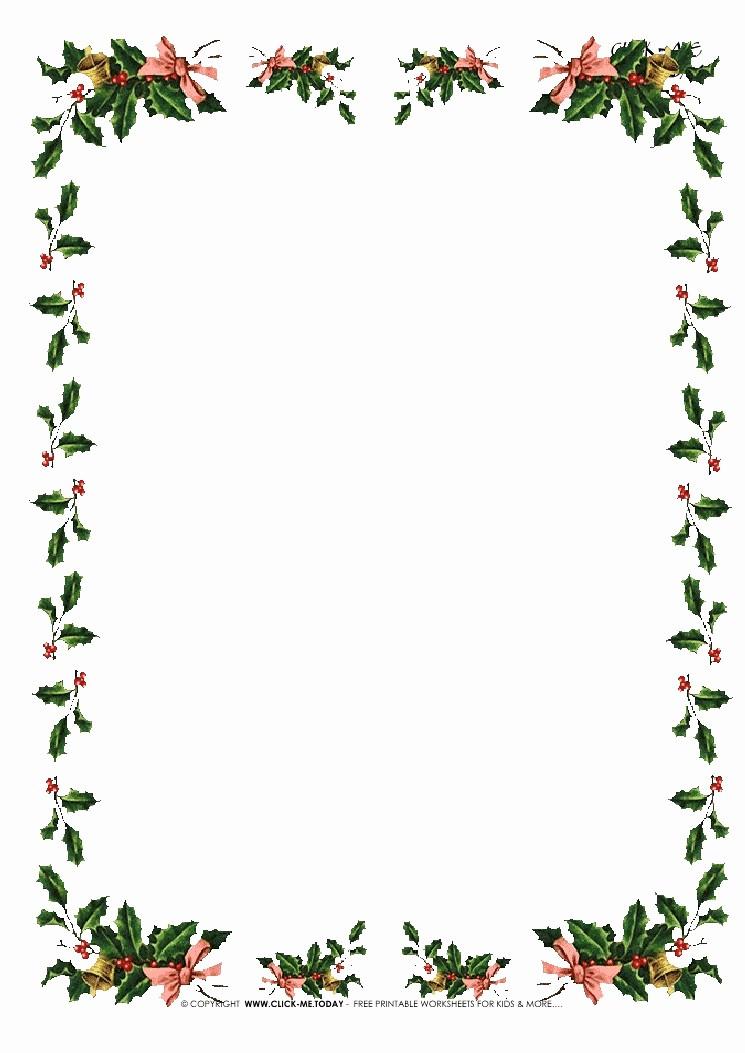 Free Christmas Stationery to Print Elegant Free Printable Christmas Stationery with Borders Of Holies 5