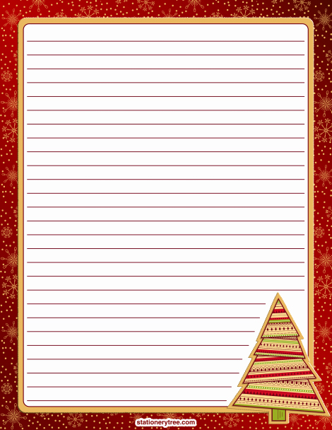 Free Christmas Stationery to Print Elegant Printable Christmas Stationery