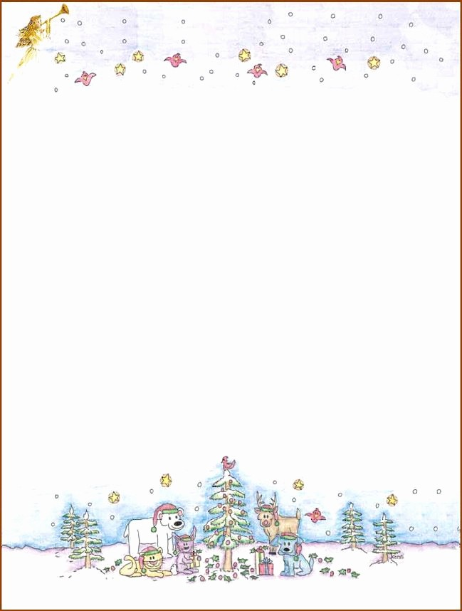 Free Christmas Stationery to Print Lovely 76 Free Christmas Stationery and Letterheads