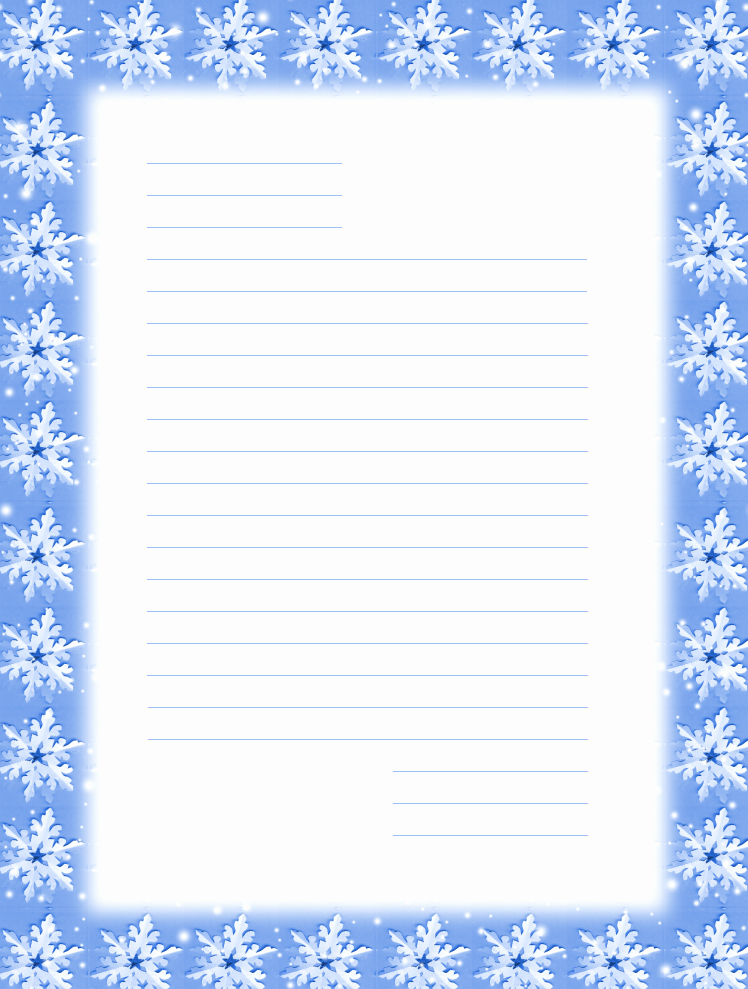 Free Christmas Stationery to Print Lovely Free Printable Christmas Snowflake Stationery