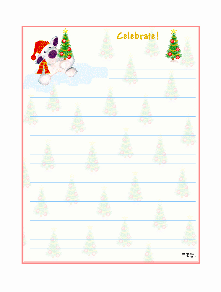 Free Christmas Stationery to Print Lovely Free Printable Christmas Stationary
