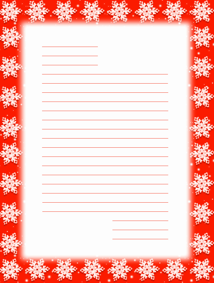 Free Christmas Stationery to Print Luxury Free Printable Christmas Snowflake Stationery