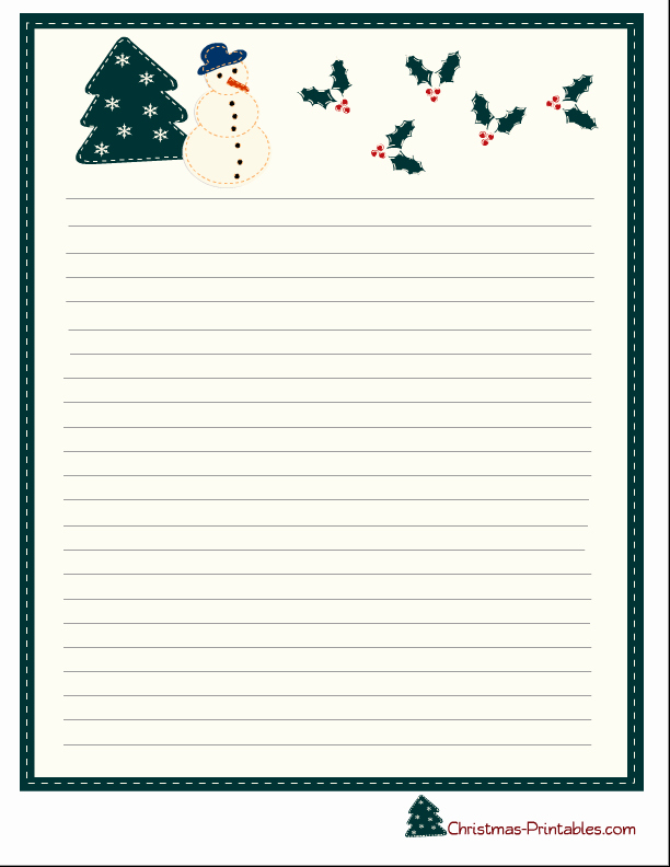 Free Christmas Stationery to Print New Free Christmas Letterhead Paper Printable Printable Pages