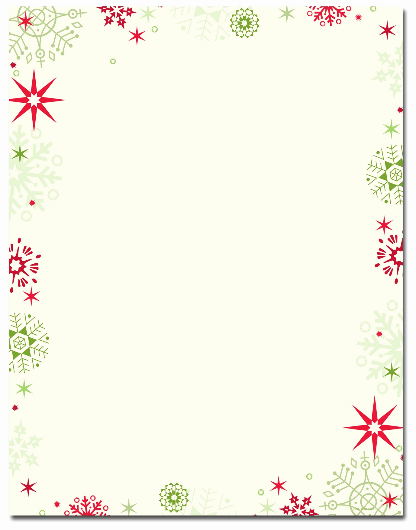 Free Christmas Stationery to Print New Free Printable Christmas Border Stationery – Fun for