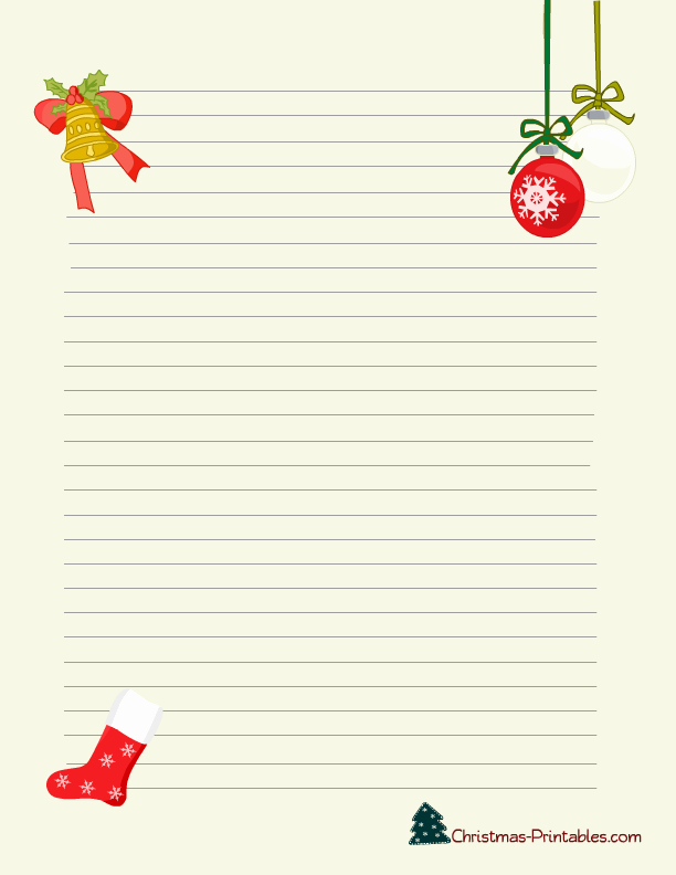 Free Christmas Stationery to Print New Free Printable Christmas Stationery